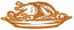 Roasted turkey embroidery design