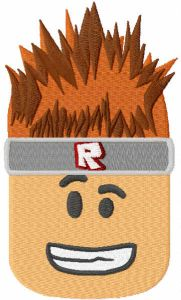 Roblox boy embroidery design