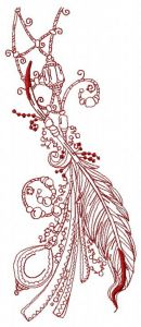Romantic composition 2 embroidery design