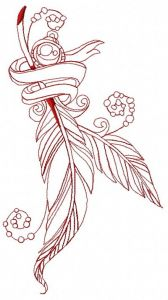 Romantic composition 7 embroidery design