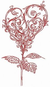 Romantic decor composition embroidery design