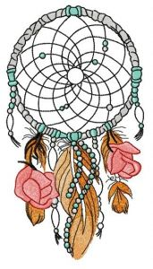 Romantic dreamcatcher 2 embroidery design