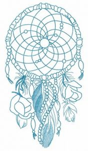 Romantic dreamcatcher 3 embroidery design