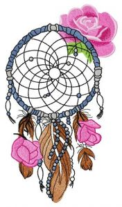 Romantic dreamcatcher embroidery design