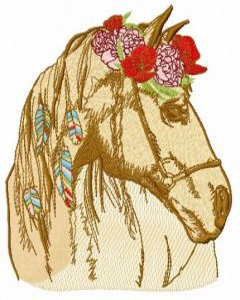 Romantic horse 8 embroidery design