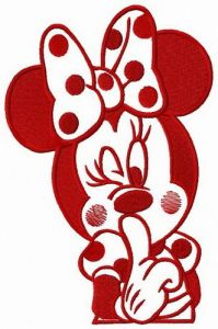 Romantic Minnie Mouse embroidery design