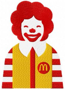 Ronald McDonald embroidery design