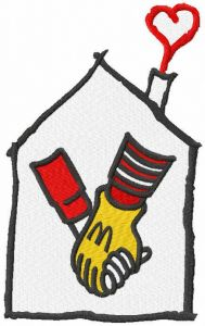 Ronald Mcdonald House embroidery design