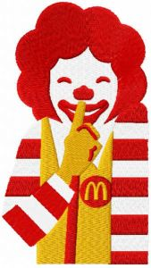 Ronald secret embroidery design