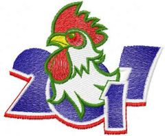 Rooster 2017 embroidery design