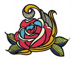 Rose 8 embroidery design
