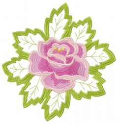 Rose and lace embroidery design