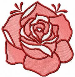 Red rose 12 free embroidery design