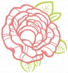 Rose 33 embroidery design