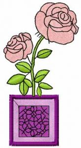 Rose box free embroidery design