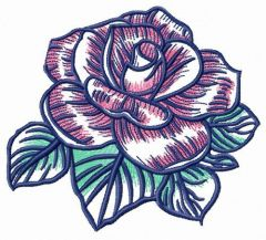 Rose freshness embroidery design