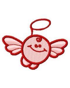 Round angel embroidery design