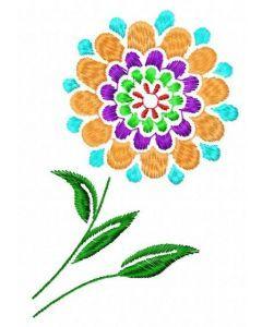 Round flower 1 embroidery design