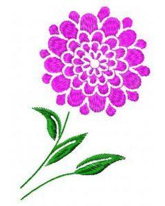 Round flower 2 embroidery design