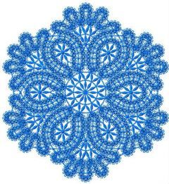 Round lace element 2 embroidery design