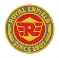 Royal Enfield logo embroidery design