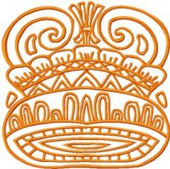 Royal Helmet embroidery design