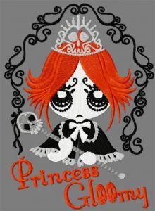 Ruby Princess Gloom embroidery design