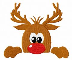 Rudolph reindeer embroidery design