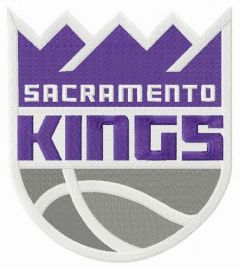 Sacramento Kings logo 2 embroidery design