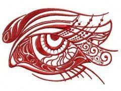 Sad eye 2 embroidery design
