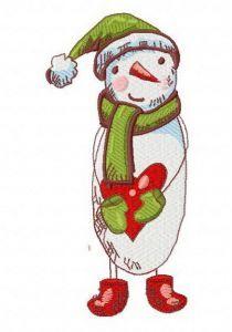 Sad snowman 2 embroidery design