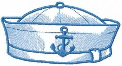 Sailor cap embroidery design