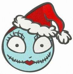 Sally in Santa hat embroidery design
