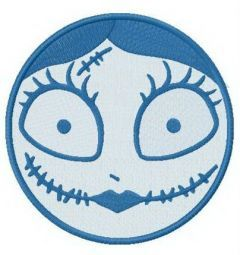 Sally's face embroidery design