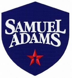 Samuel Adams logo embroidery design