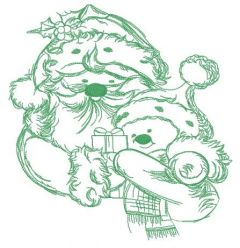 Santa and snowman 5 embroidery design