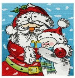 Santa and snowman embroidery design