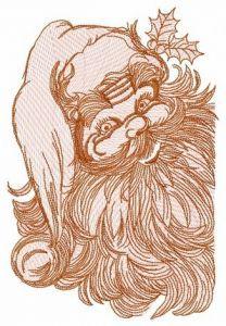 Santa Claus 4 embroidery design