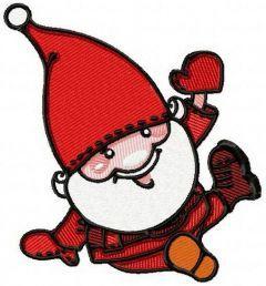 Santa Claus hello my friends embroidery design