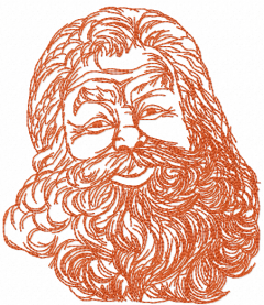 Santa one colored free embroidery design