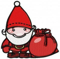 Santa with Christmas gifts embroidery design