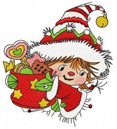 Santa's fairy 2 embroidery design