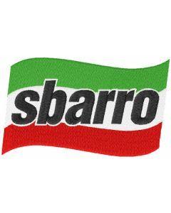 Sbarro classic logo embroidery design
