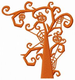 Scary tree embroidery design