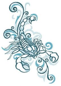 Scorpion spirit embroidery design