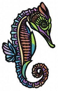 Sea horse 7 embroidery design