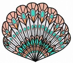 Sea shell 11 embroidery design