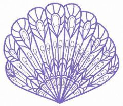 Sea shell machine embroidery design 12