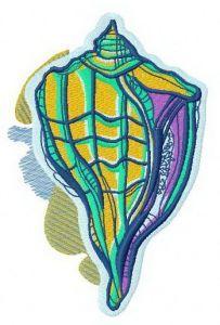 Sea shell 2 embroidery design