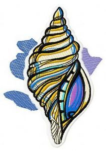 Sea shell 3 embroidery design